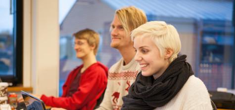 tre studenter i Civilingenjör i datorsäkerhet