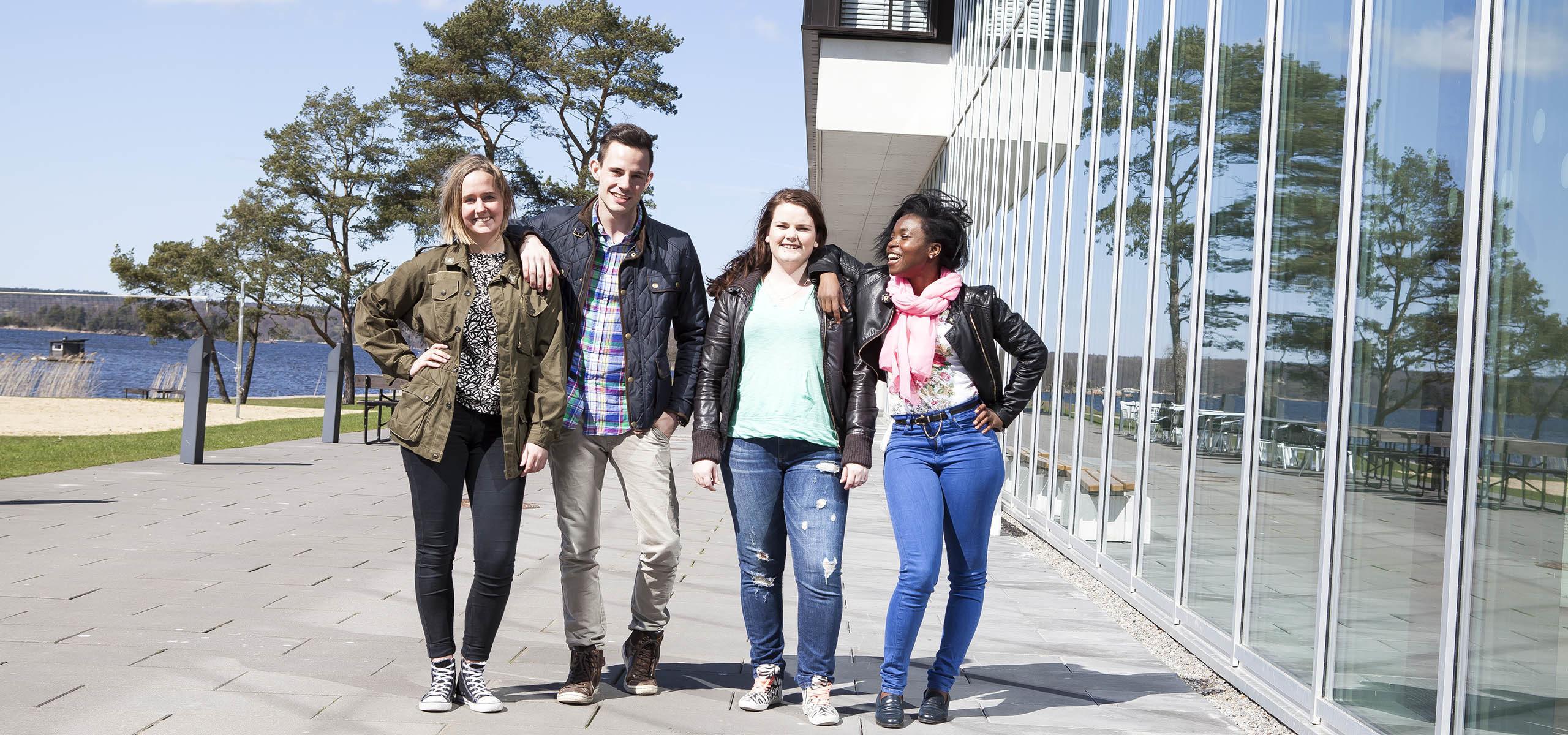 studenter utanför bth