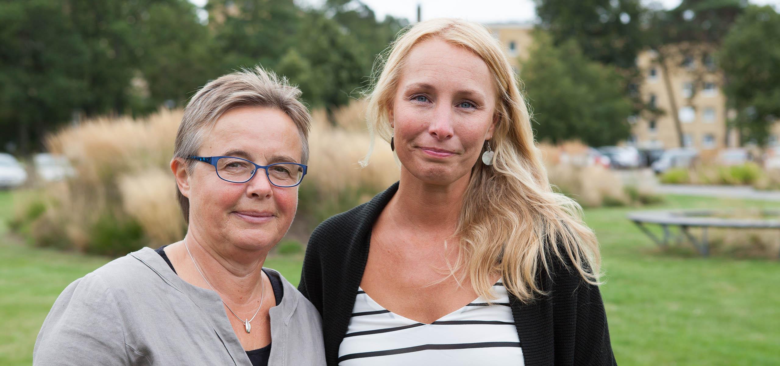 Anna Holmgren Studentsjuksköterska BTH, Mariana Sahlström Studentkurator BTH