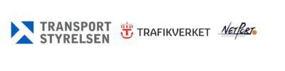 Logotyp Transportstyrelsen, Trafikverket och NetPort