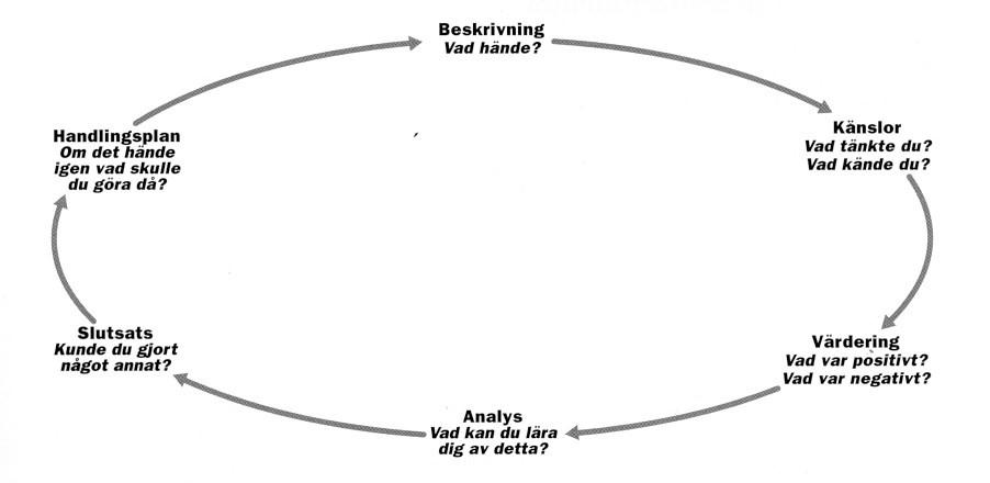 Grafiskt illustration över reflektions-process