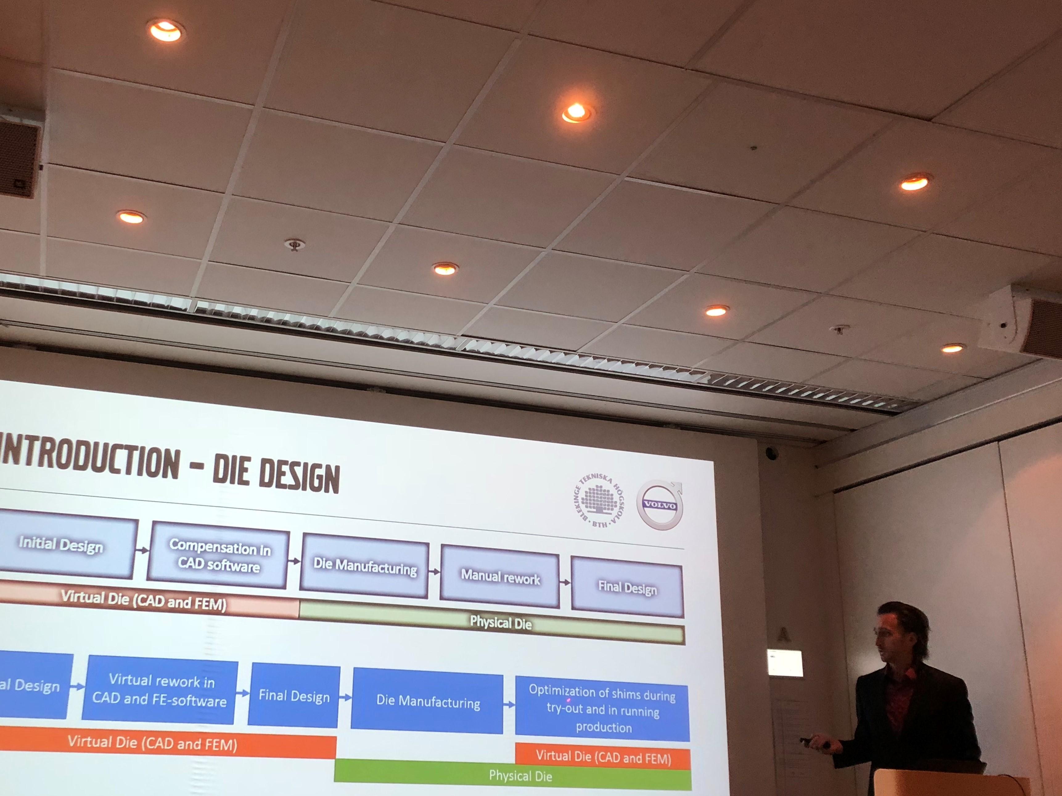 Photo from Johan Pilthammar presentation at Volvo Cars