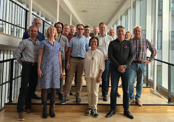 Photo from the FFI/VINNOVA project meeting at BTH