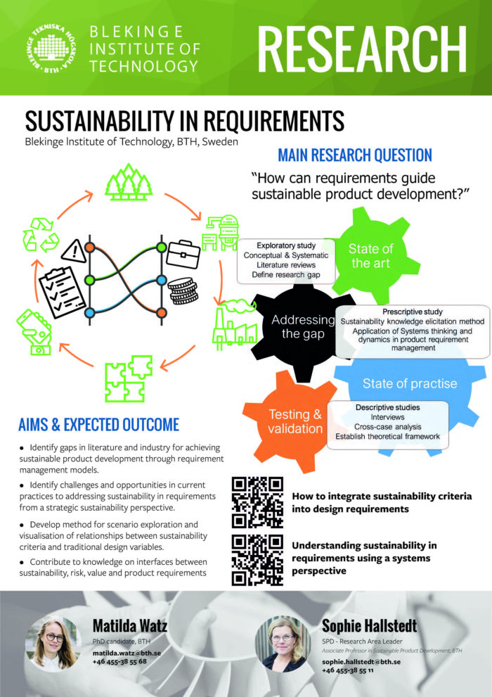 Image of poster Sustainability in requirements