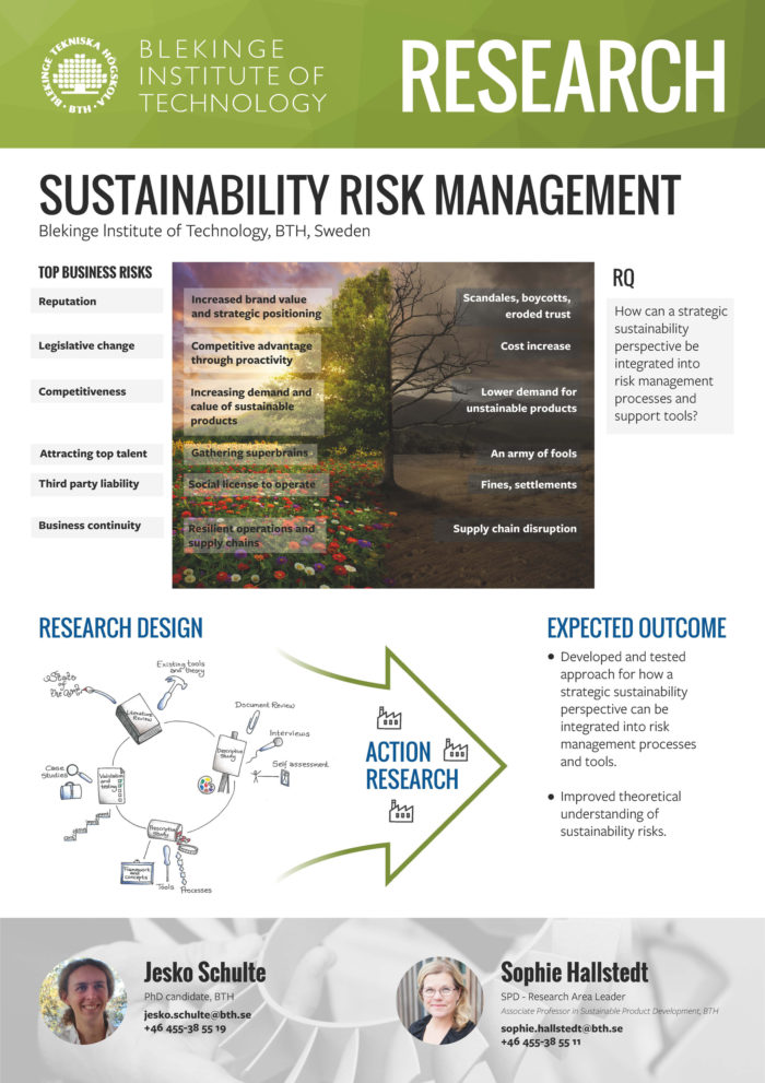 Image of poster Sustainability risk management