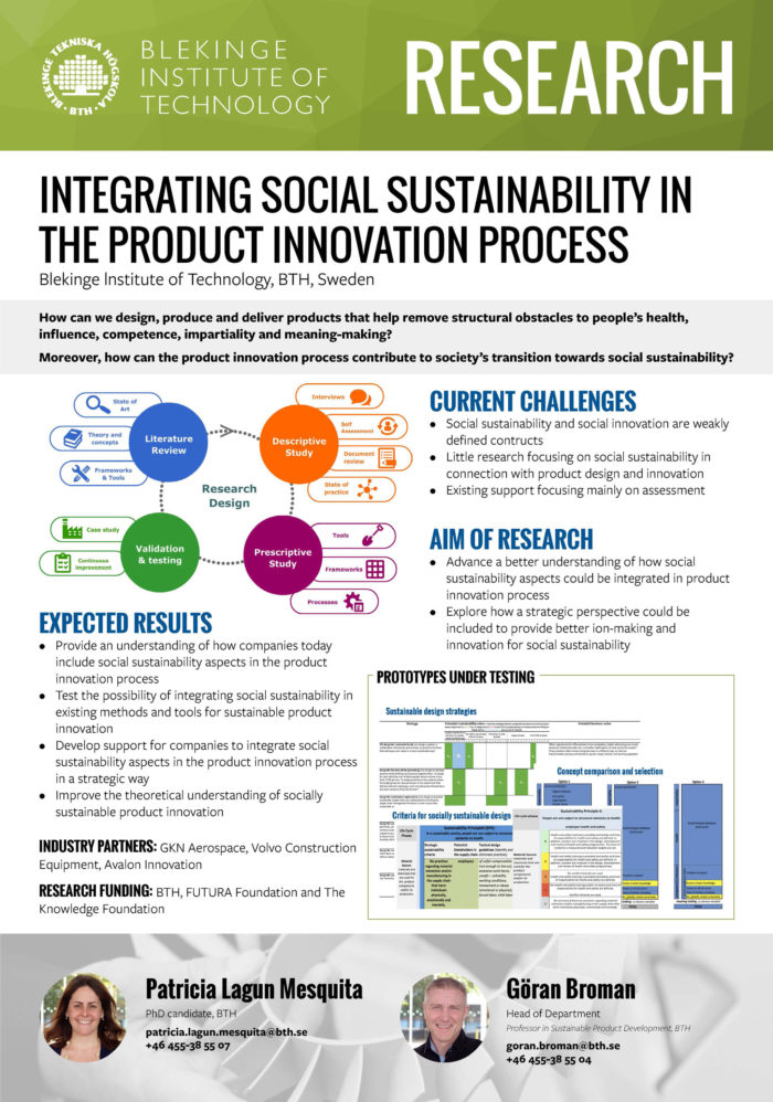 Image of poster Integrating social sustainability in the product innovation process