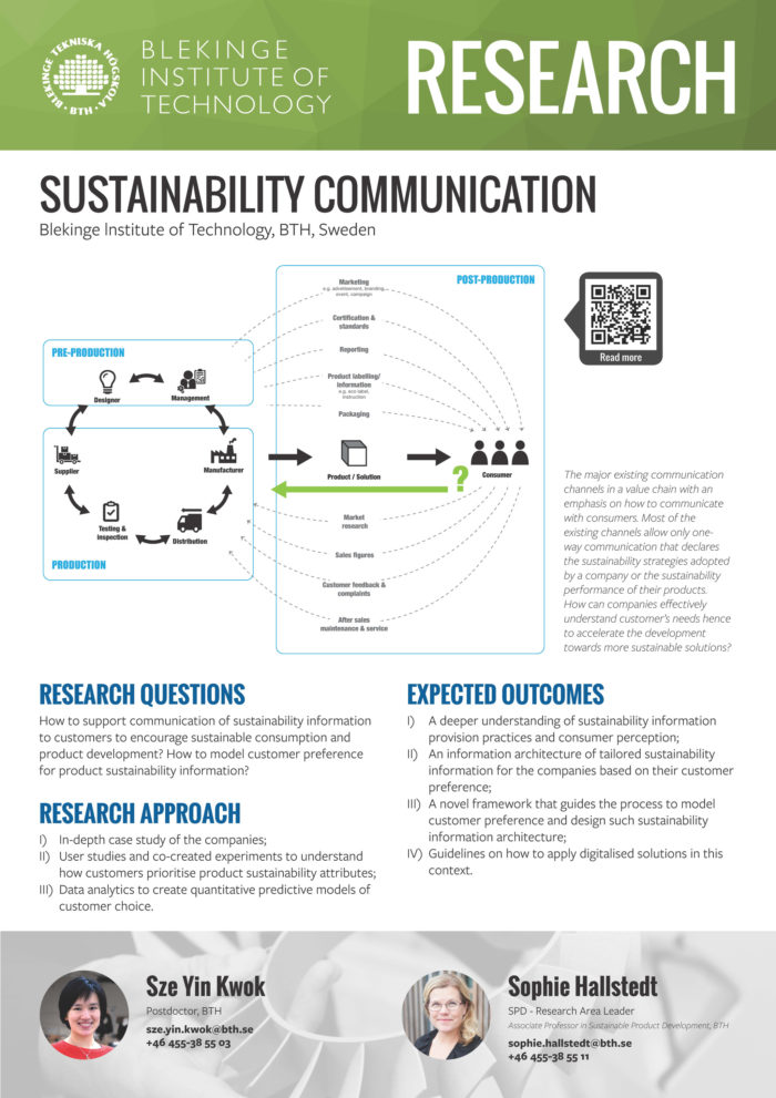 Image of poster Sustainability communications