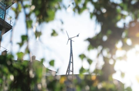 Vindkraftverk på Campus Gräsvik