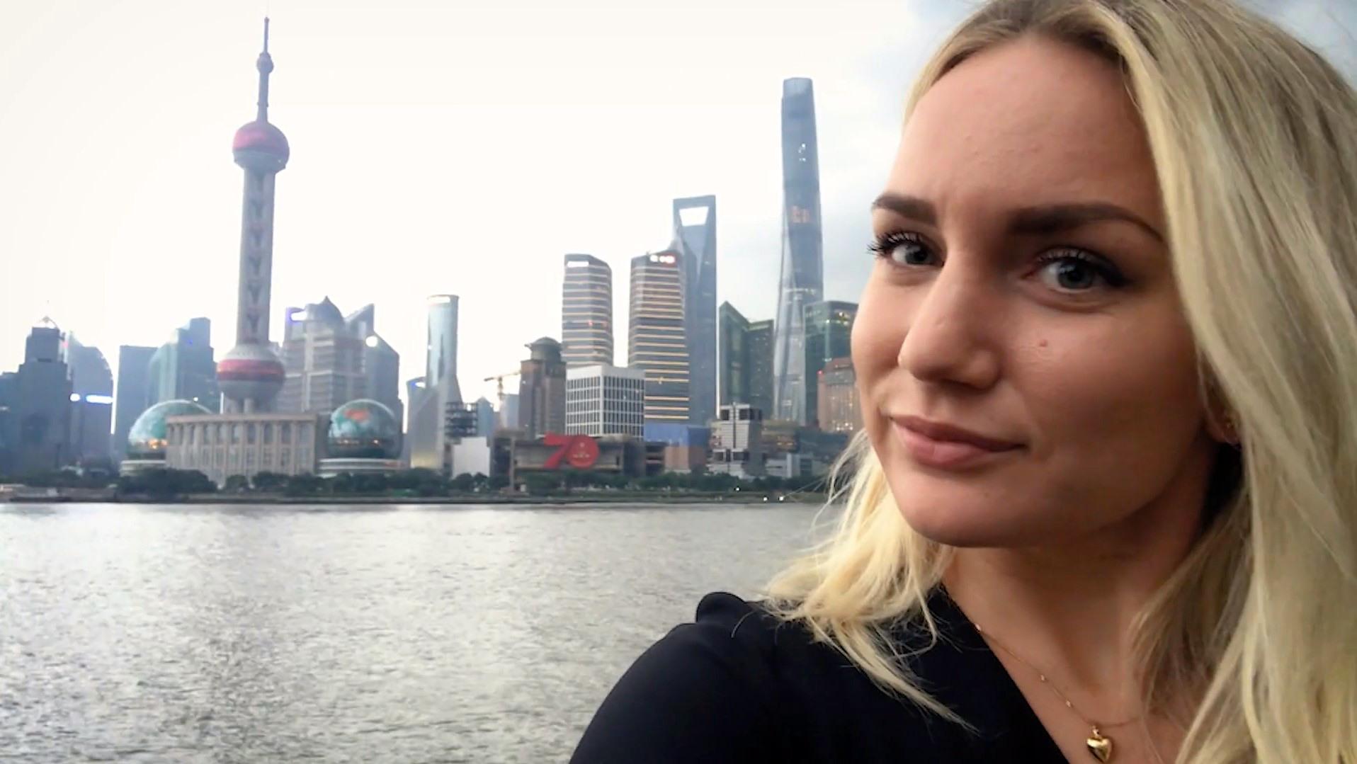 Selfie på student som studerar utomlands