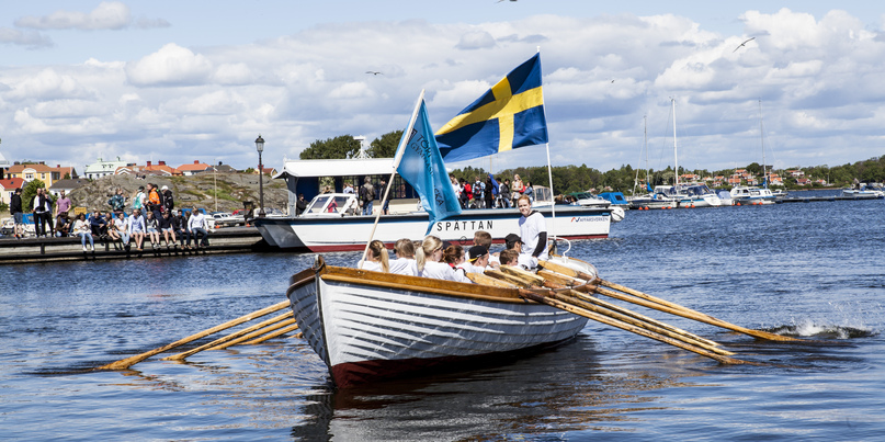Foto på båt i Karlskronas skärgård