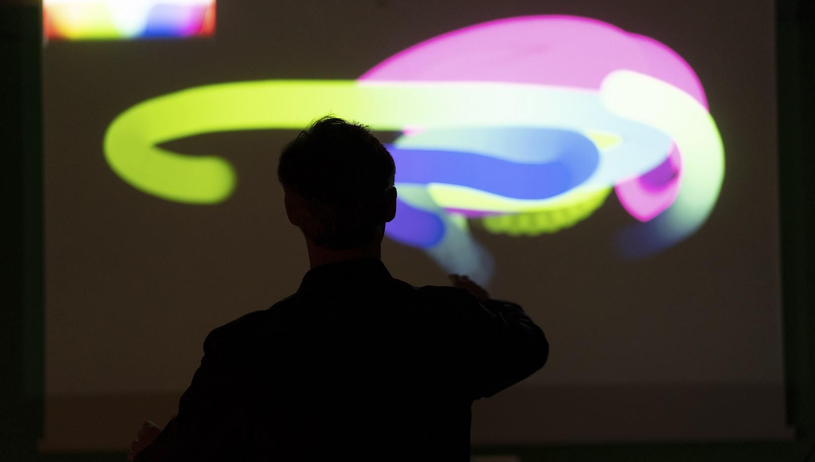 Foto på en grafisk installation, Campus Karlshamn