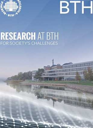 "Photo of the brochure ""Research at BTH"""