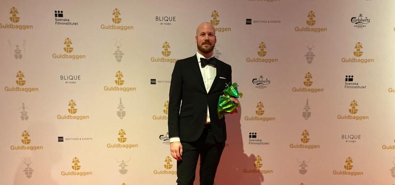Bild av Fredrik Dalenfjäll på Guldbaggegalan