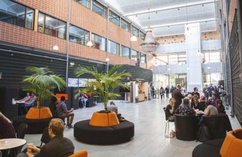 Foto på inomhusmiljön, Net Port Science Park, Karlshamn