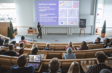 Foto på föreläsningssal på Campus Karlshamn