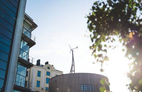 Foto på byggnader, Campus Gräsvik, Karlskrona