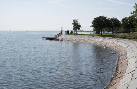 Foto från kusten, utanför Campus Karlshamn
