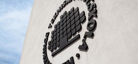BTH-logo på fasad