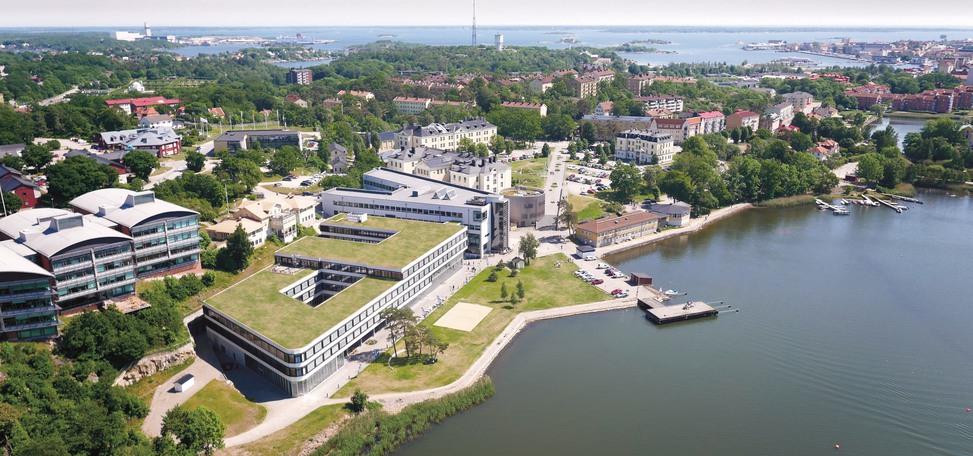 Flygbild över Campus Gräsvik