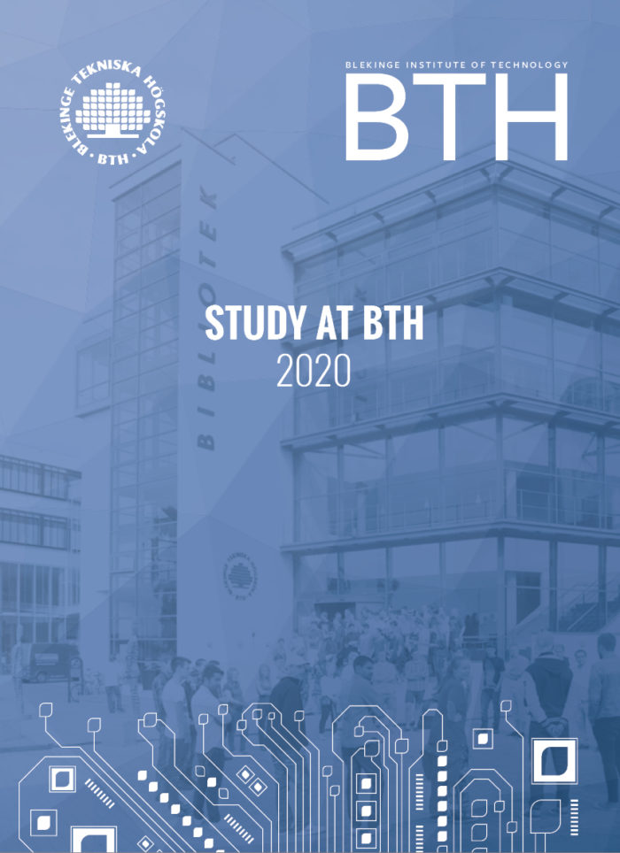 "Photo of the brochure ""Study at BTH"""