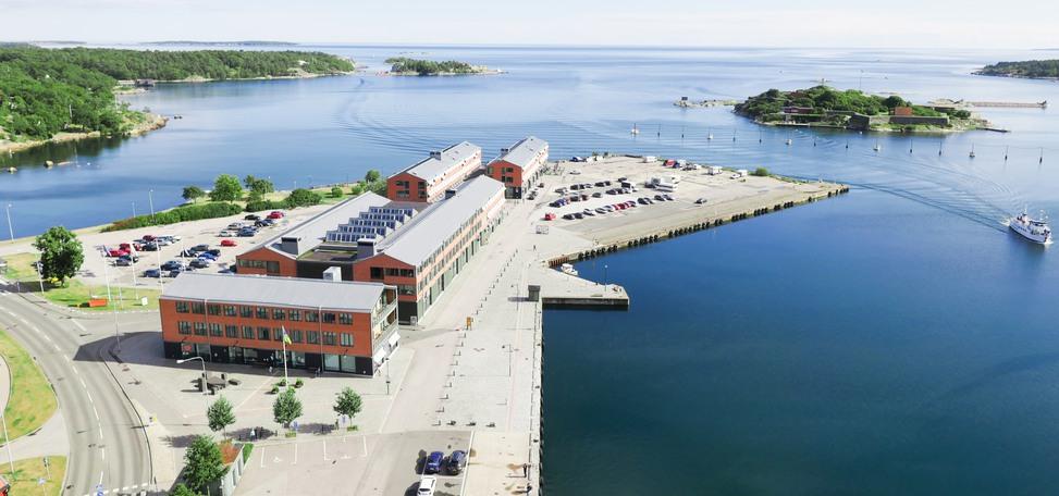 Flygfoto över Campus Karlshamn