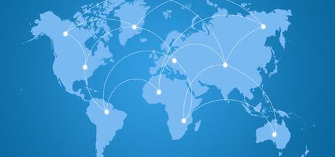 Grafik över världskarta