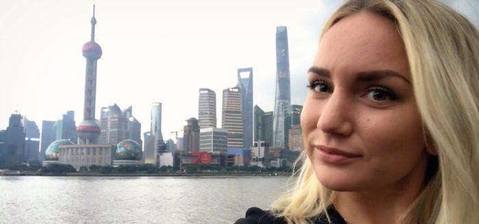bild på student som studerar utomlands