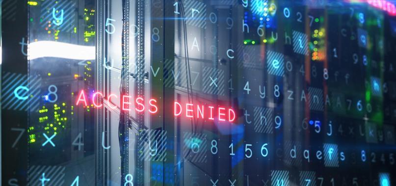 """Bild på datorskärm med olika tecken och texten """"Access Denied"""""""