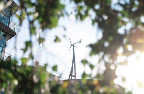 Vindkraftverket på Campus Gräsvik
