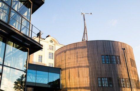 Foto på byggnader på Campus Gräsvik