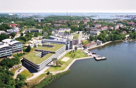 Flygfoto över Campus Gräsvik