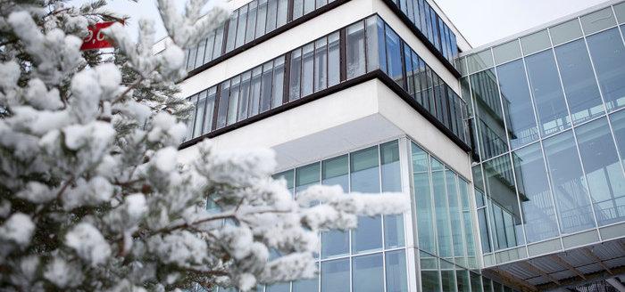 Campus Gräsvik in winter