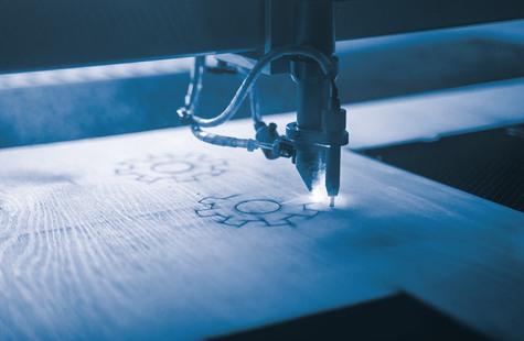 Foto på CNC-maskin